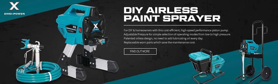 DIY airless paint sprayer