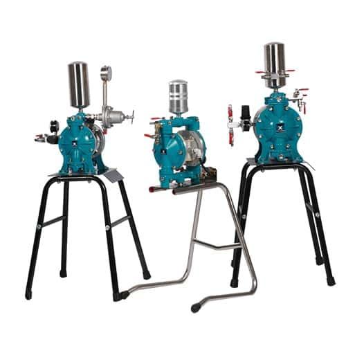 Double-membrane pump AODD
