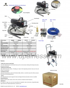 Professional electric piston pump