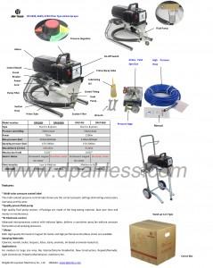 Professional electric piston pump