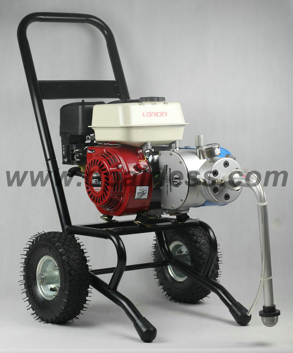 Gasoline Engine Airless Painting Sprayer Chrome Trolley