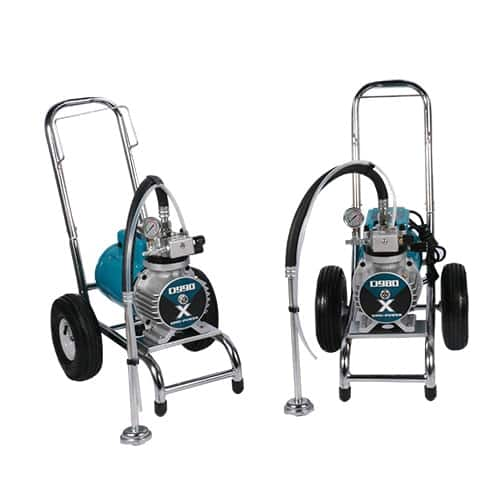 Diaphragm pump airless sprayers