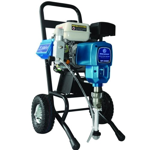 Gasoline engine airless painting sprayer chrome trolley for Air or airless paint sprayer