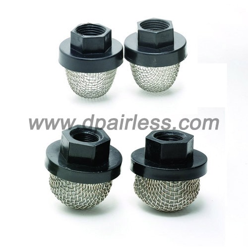 inlet filter for airless
