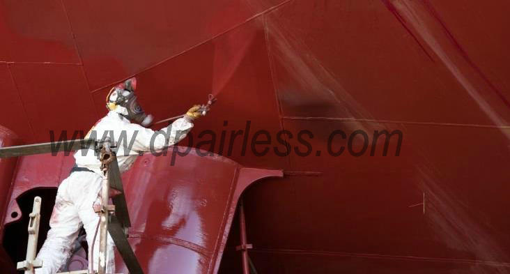 heavy-duty pneumatic airless paint sprayer for ship painting