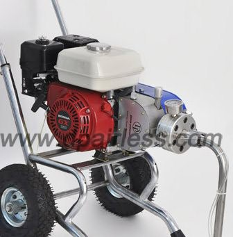 Gasoline air less sprayer