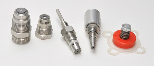 inlet valve, out valve, prime valve, regulator and diaphragm
