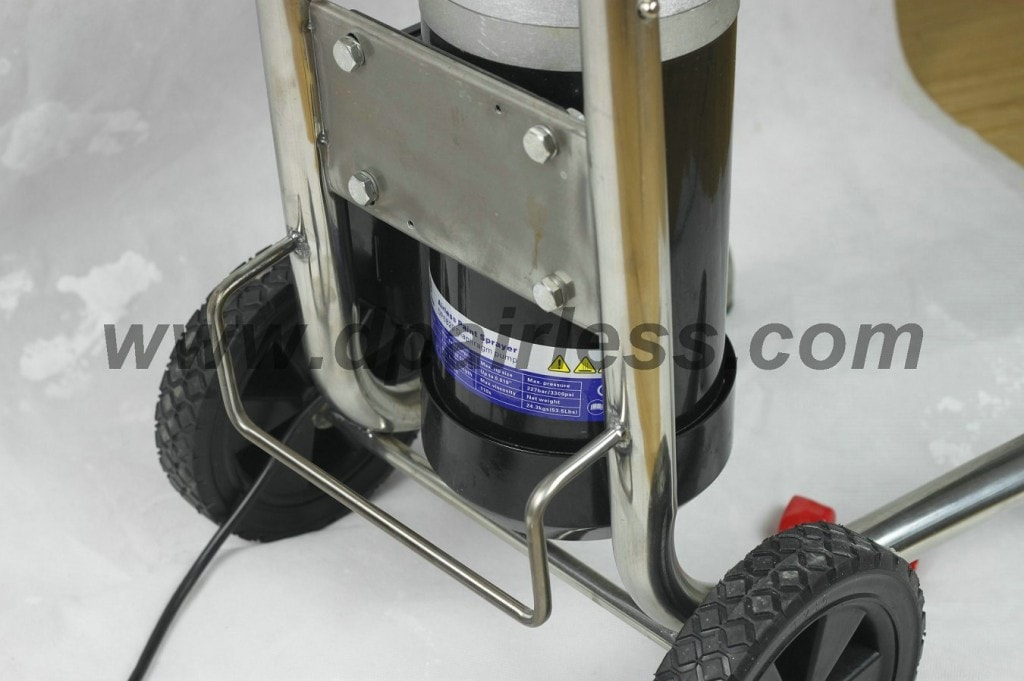 wheeled cart for easy moving