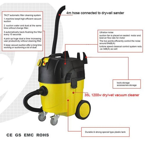 Vacuum cleaner DP508-35L (dry & wet) Automatically dust off