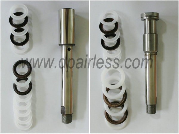 PISTON ROD AND V-PACKINGS Of DP6880 AIRLESS PAINT SPRATYER ( Left pic for 220V machine; right Pic for 380V machine)