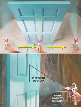 paint door by airless spray