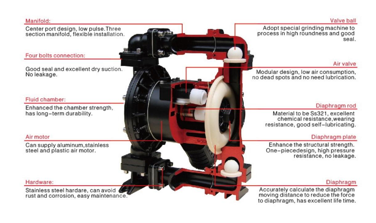 Dp pp157 pneumatic double membrane transfer pump dp airless paint double membrane pump drawing ccuart Gallery