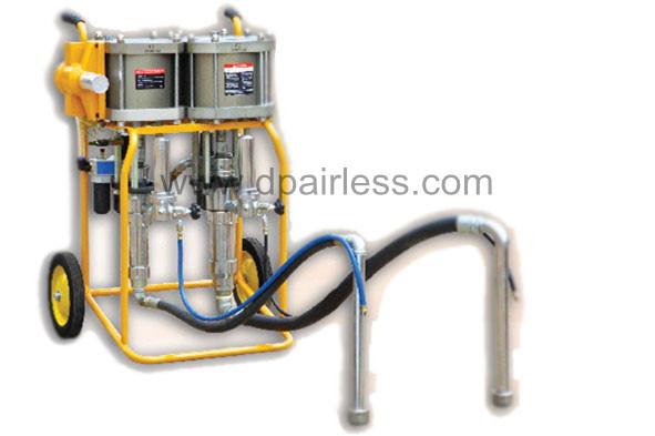 Pulverizador airless para borracha líquida de dois componentes 1: 1