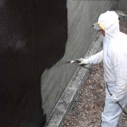 waterproof spraying by using airless sprayer