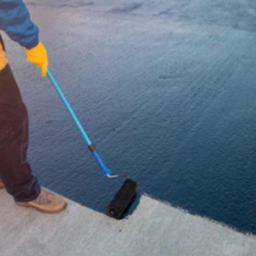 Roller for waterproof roof coating
