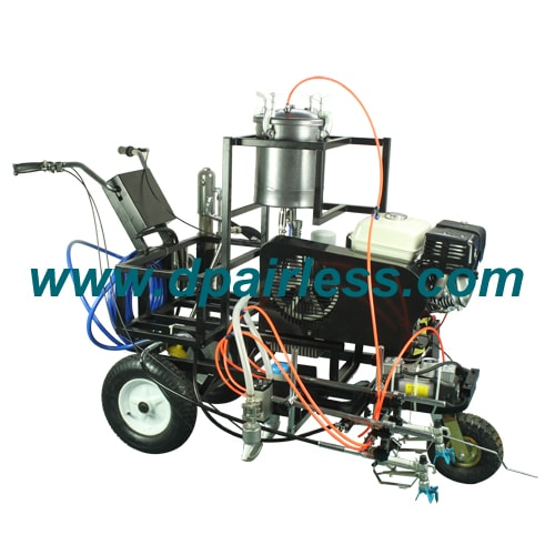 DP-LC860 Hydraulic Driven Line Marking Machine with Glass Bead Dispenser