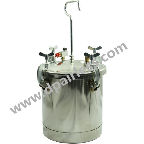 DP–T10SS Stainless Steel Paint Tank paint pressure pot 10 Liter