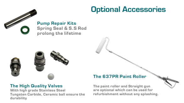Optional Accssories for X-3 X-6