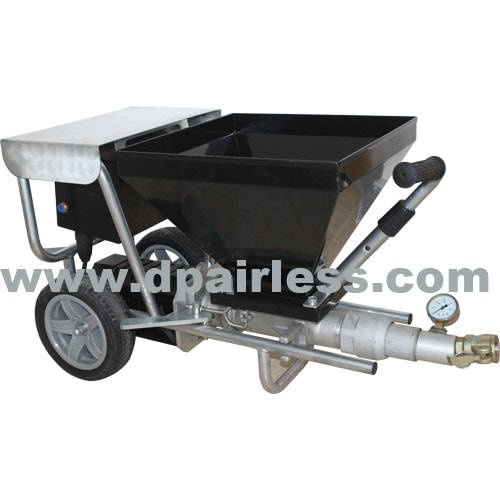Cement plaster machine portable cart type with small volume