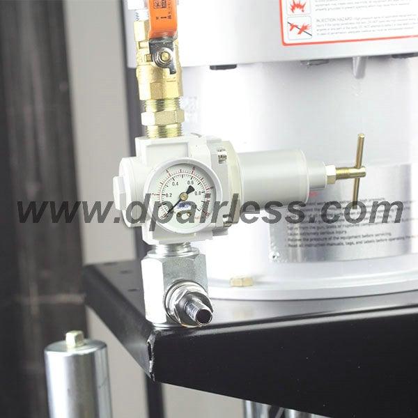 filtersysteem van luchtondersteund airless verf apparatuur