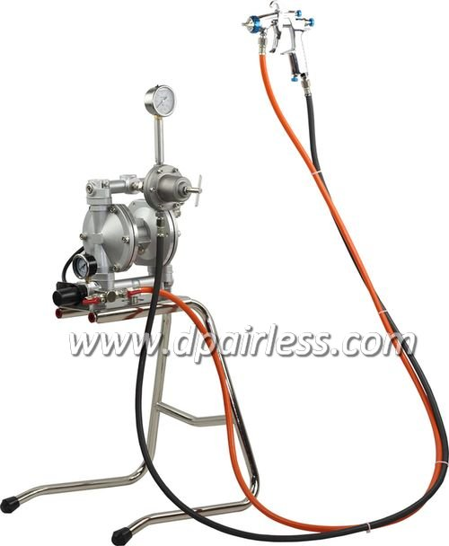 DP-K17 Double Diaphragm Pump with W101 Spray Gun for Automotive Furniture Fine Finish Painting