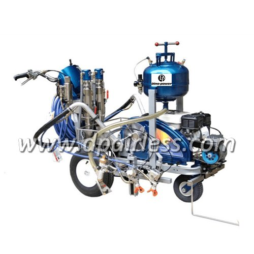 DP-TP3900L Two-components Hydraulic Driven Roadline Marking Machine with glass bead dispenser
