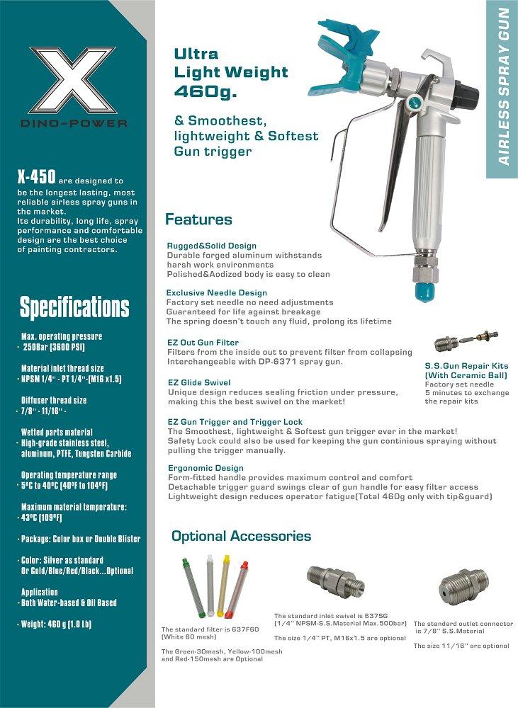 X450 Airless spray gun