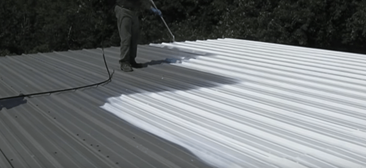 Painting EPOX-Z NRG Cool Roof Coating with DP-9800E paint sprayer