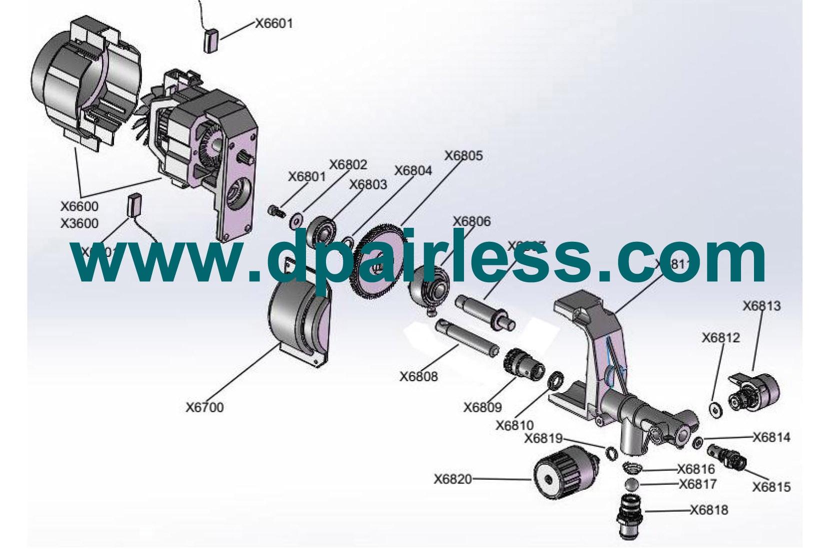 DP-X3 X6 Airless sprayer won't PRIME