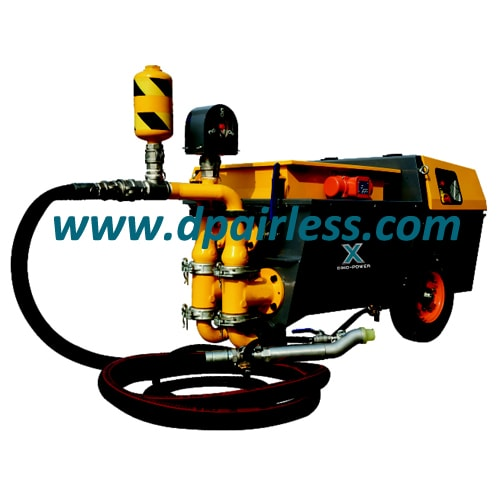 DP-UB80P Dual Cylinder Cement Mortar Sprayer with Piston Pump