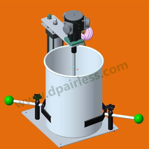 DP New Customized Pneumatic Paint mixer for different mix application