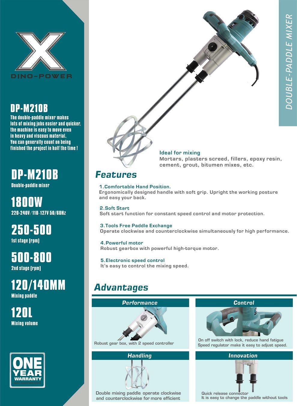 DP-M210B DOUBLE PADDLE MIXER