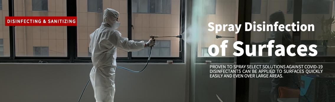 Airless disinfectant sprayer