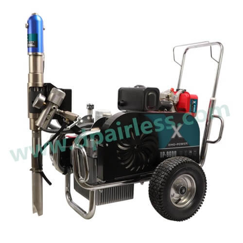 DP-9600D Diesel Engine Belt Driven Hydraulic Pump Airless Paint Sprayer