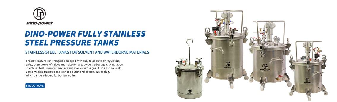 Dino-power Fully Stainless Steel Pressure Tanks
