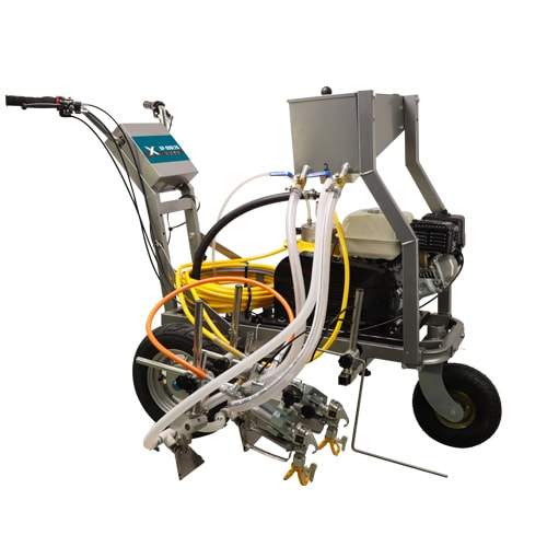 DP-990L2G  2 Guns Roadline marking machine diaphragm pump with Glass beads device